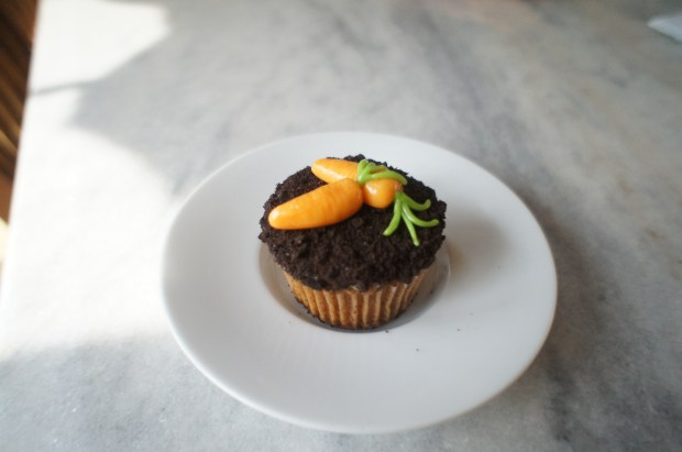 finished carrot cupcake