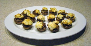 Mushrooms & Goat Cheese - The Finished Product