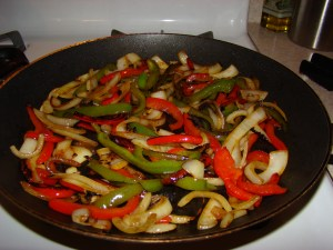 Sautéed peppers and onions