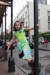 The Girl loved wandering the urban streets of the French Quarter. It's so much more fun and interesting than our suburban home town. Now, if we could just stop her from swinging on all the poles!