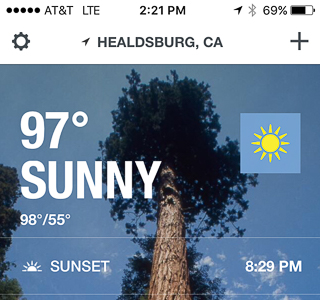 Yes, it was 97, supposedly felt like 98, but it's a DRY HEAT, so lunch outside was just peachy keen with us.