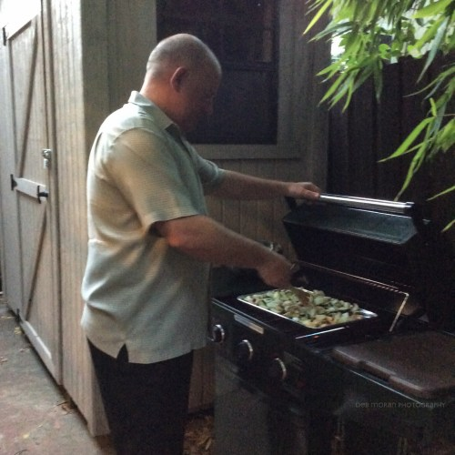 Even on vacay, Hubs is forever the Grill Master.