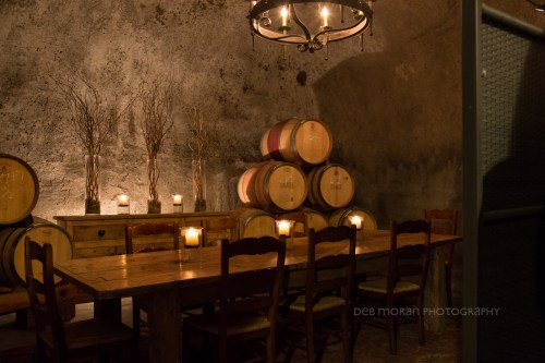 One of the private tasting rooms at Pride Mountain Vineyards. This isn't the room we were in, but we did walk past it. Has a bit of a GOT vibe, doesn't it?