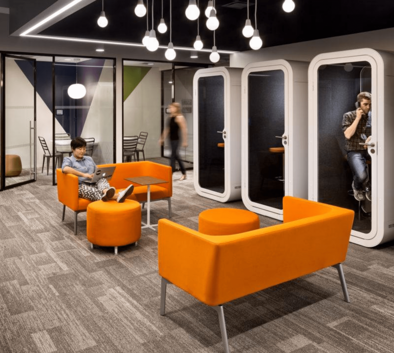hanging chair christchurch intex ultra lounge and ottoman framery o acoustic booth  bishop interiors