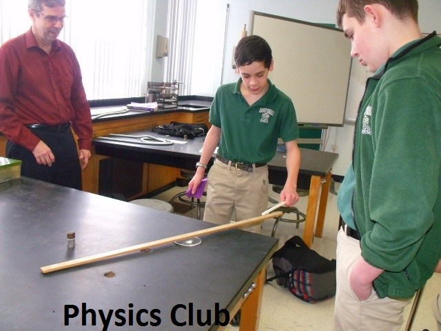 bishop ludden Physics Club and Robotics fun science club - Physics Club