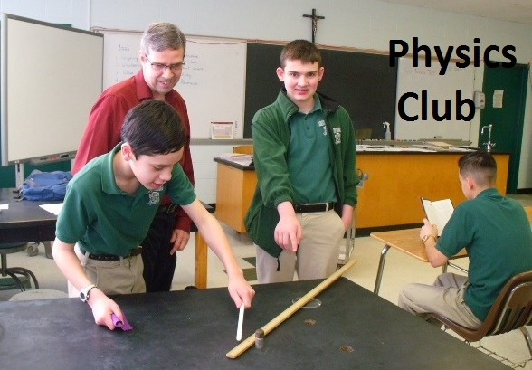experiment bishop ludden Physics Club and Robotics teacher - Physics Club