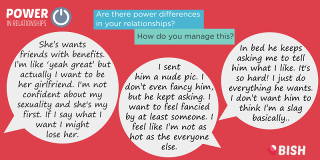 There are obvious examples of power differences in relationships but also less obvious. How do you manage them?