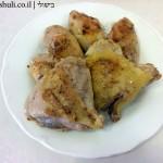 תבשיל עוף בבצל - השחמת העוף