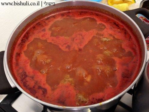 קציצות בשר עם שעועית לבנה - בישול השעועית והקציצות
