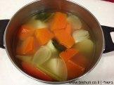 מרק כתום - לאחר בישול הירקות