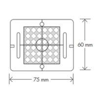Meterriss-Plakette – (RS61) – grau
