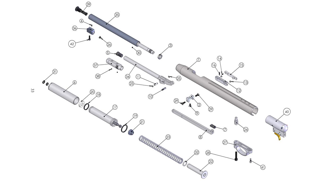 Barrel Cylinder Amp Body Spare Parts