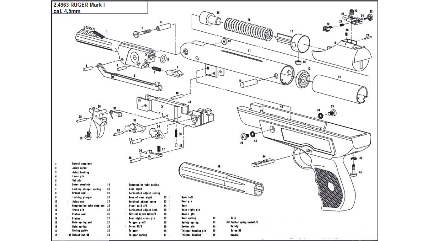Ruger Mark 1 Spare Parts