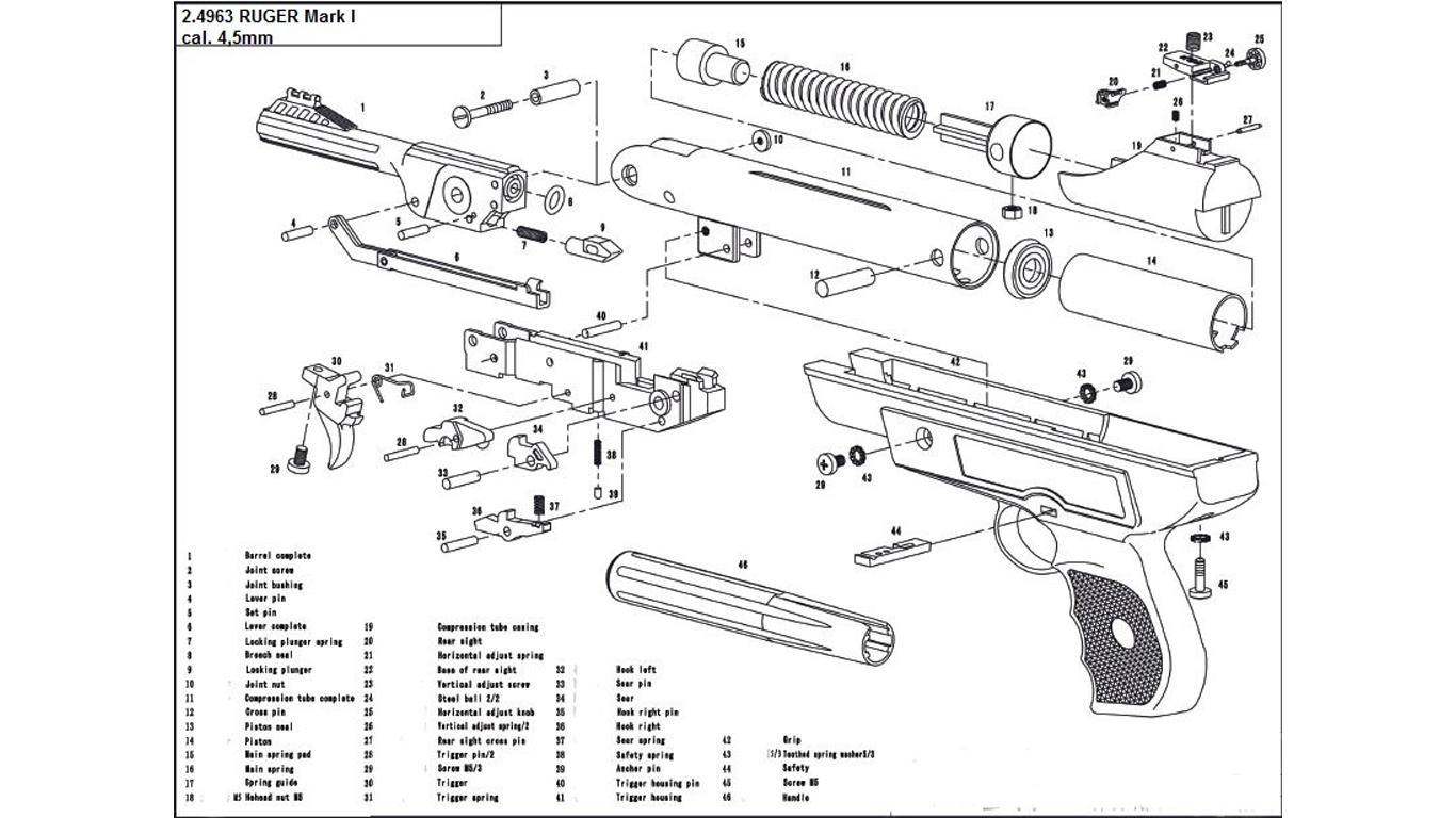 ruger pistol parts diagram ge kv2c wiring mark 1 spare