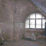 Sanierungsarbeiten im Eingangsbereich des Weißenfelser Bismarckturms