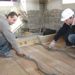 Sanierungsarbeiten Bismarckturm Weißenfels 2008 - Zwischendecken