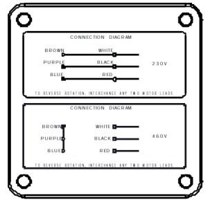 PowerSTAR 725 Series Right Angle Hypoid Gearmotor 3PH 230