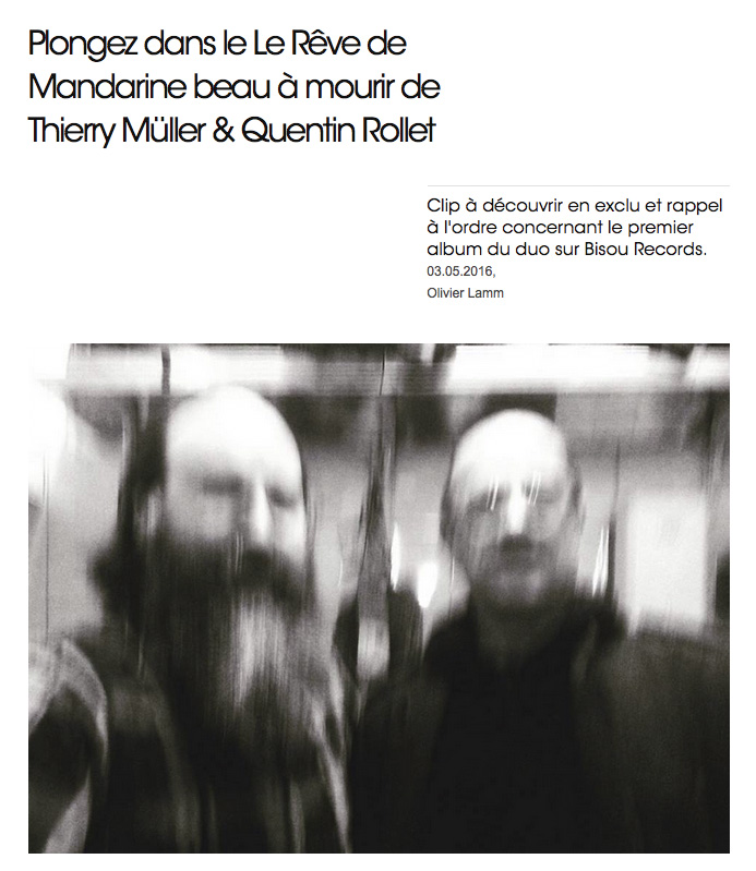 Quentin Rollet / Thierry Müller – Review on The Drone