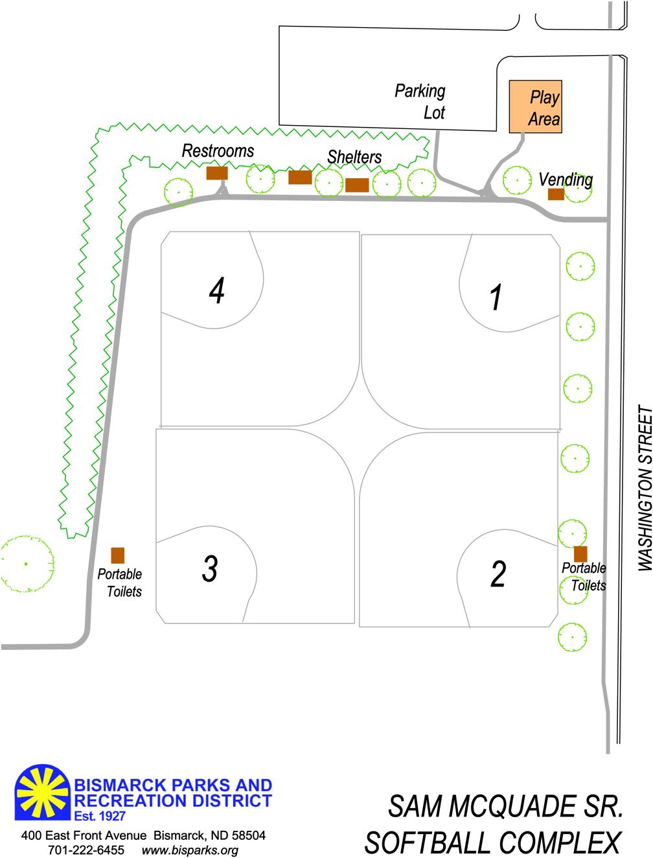 hight resolution of sam mcquade sr softball complex map 2016