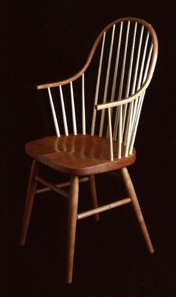 windsor chair with arms seat covers for table chairs handmade continuous arm shaker cherry