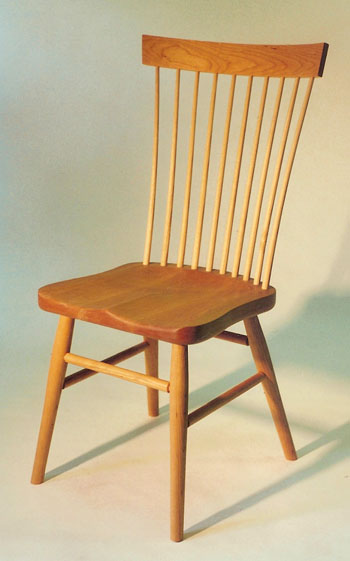 shaker ladder back chair swing jhula handmade windsor chairs continuous arm cherry