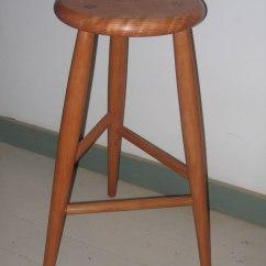 3 Legged Chair Home Goods Stool Shaker Furniture Custom Cherry