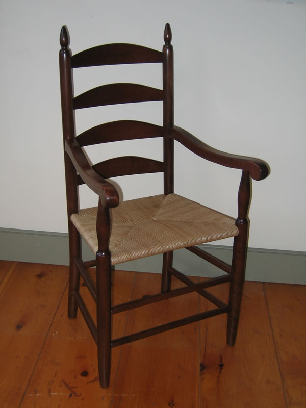 ladder back chair nada sportbacker shaker arm furniture bissellwoodworking com with vintage cherry finish