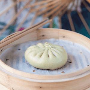 bao matcha & haricot rouge Bistro Zakka - bao Lyon - Restaurant chinois
