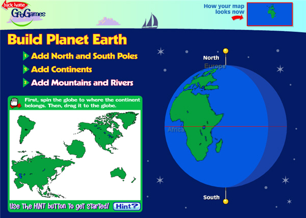 Earth Map Game