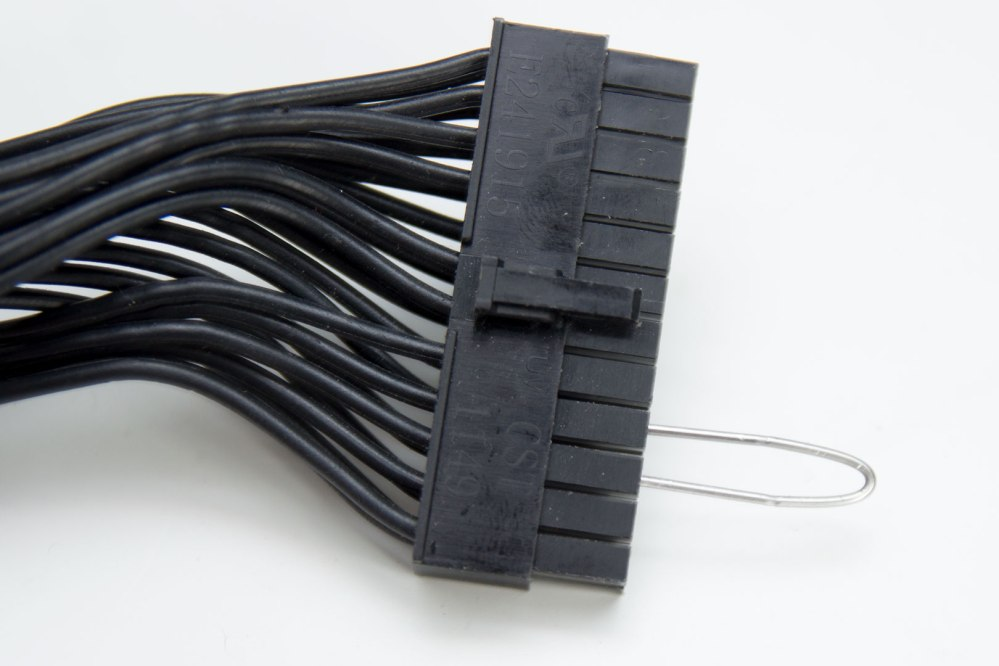 medium resolution of now you simply put the wire into the 24 pin connector that comes from your psu you must connect the wire to the fourth pin from the left when you looking