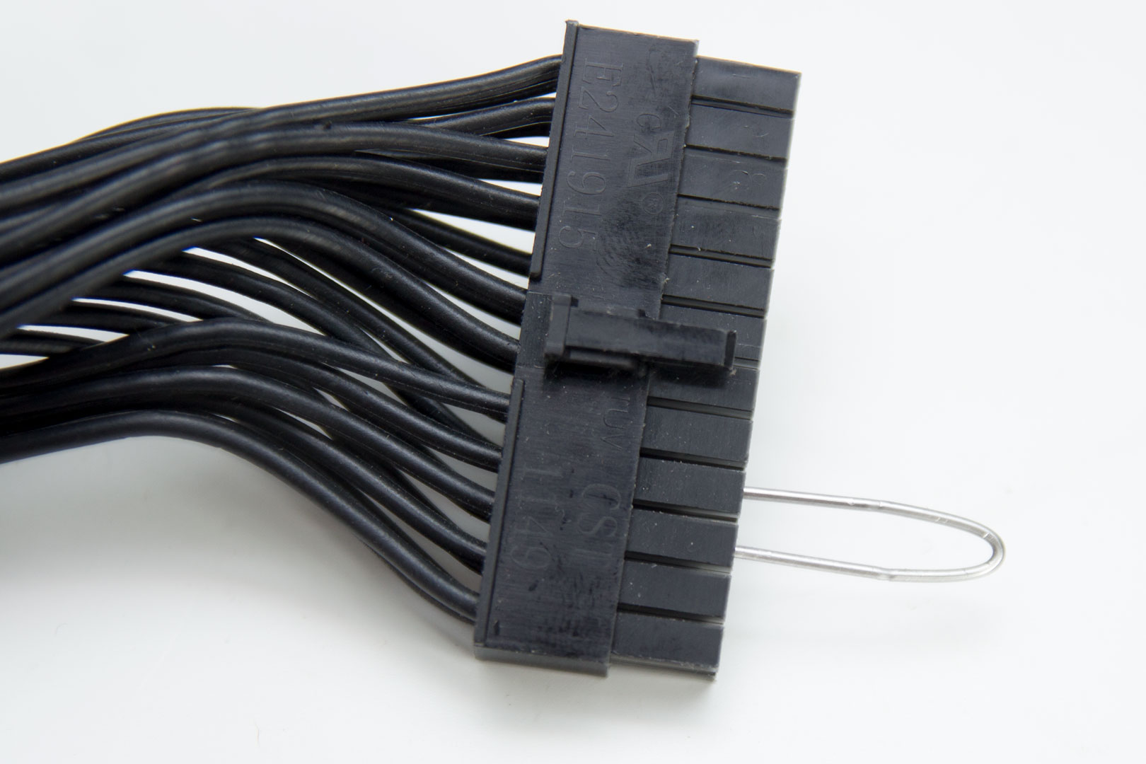 hight resolution of now you simply put the wire into the 24 pin connector that comes from your psu you must connect the wire to the fourth pin from the left when you looking