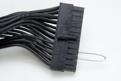 small resolution of now you simply put the wire into the 24 pin connector that comes from your psu you must connect the wire to the fourth pin from the left when you looking