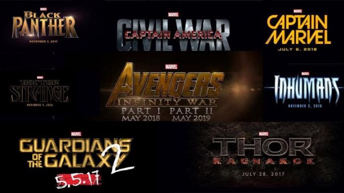 calendario de películas Marvel