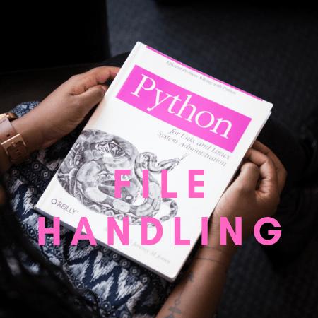Handling Files with Python