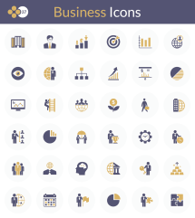 Exclusive Business Flat Icons Free