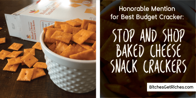 Honorable Mention for Best Budget Cracker: Stop & Shop Baked Cheese Snack Crackers