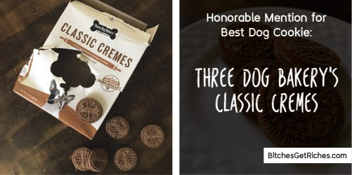 Honorable Mention for best Dog Cookie: Three Dog Bakery's Classic Cremes