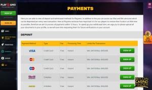 PlayAmo Casino screenshot - Bitcoin Casino Finder