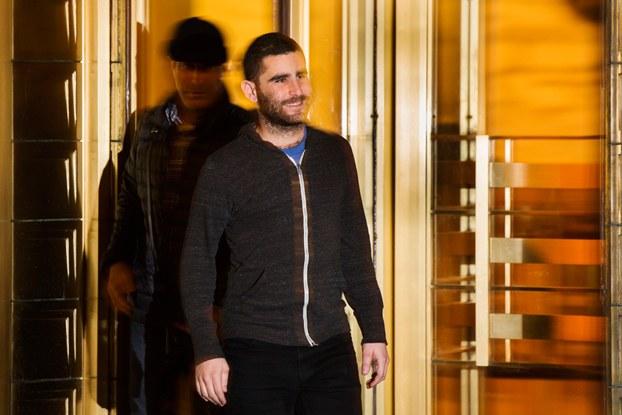 Charlie Shrem esce da un tribunale a New York il 27 gennaio 2014. (Lucas Jackson, Reuters/Contrasto