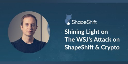 Shapeshift CEO Responds to Wall Street Journal Laundering Claims