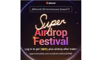 PR: Bithumb Celebrates Its Fifth Anniversary with BTC Air Drops 2