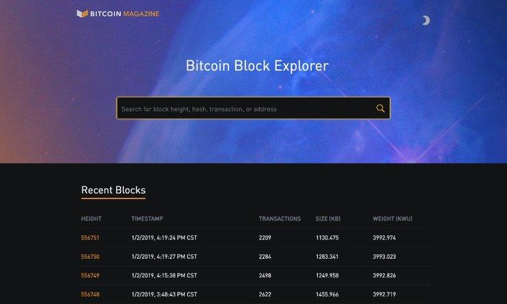Bitcoin Magazine Launches Custom Block Explorer 1