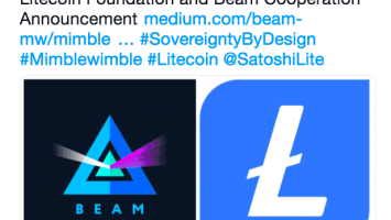 Litecoin [LTC] Takes a Step Forward in Mimblewimble Implementation, Collaborates with Beam 1