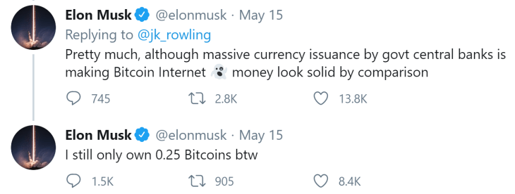 JK Rowling Bitcoin Quest: Elon Musk Joins Community to Explain Cryptocurrency to Harry Potter Author 5
