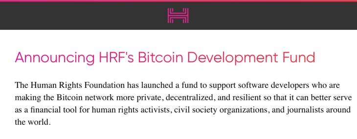 Bolstering Privacy: Human Rights Foundation Donates $50K Toward Bitcoin Mixing Development