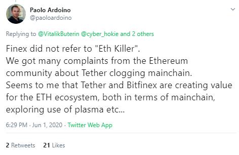 """""""OMG Is Not Ethereum Killer"""" Vitalik On Tether's [USDT] Migration To OMG Network 3"""