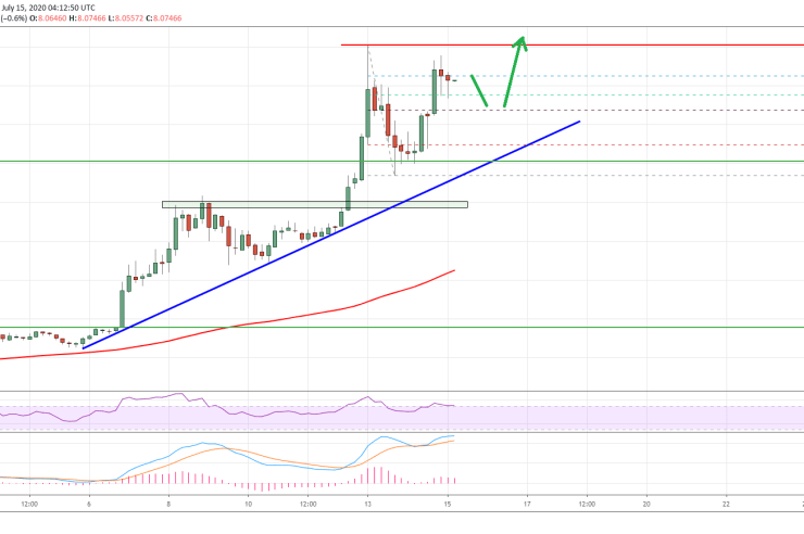 Chainlink (LINK) Surges 12%: Price Action Indicate Fresh High Above $9 1