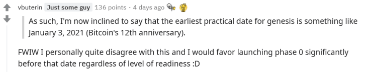 Ethereum co-founder comments on the AMA