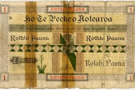 1 pound tawhaio aotearoa unnumber paper front