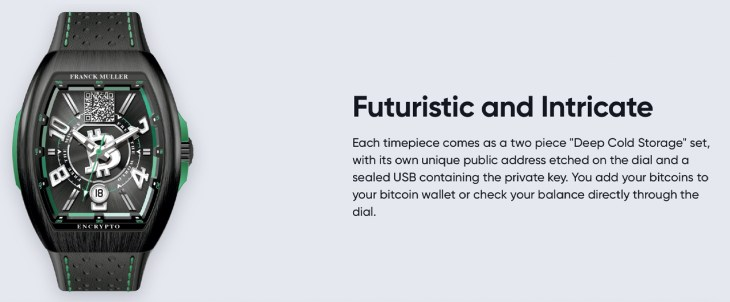 Bitcoin.com Reveals Limited Edition Bitcoin Cash Wristwatch Crafted by Luxury Watchmaker Franck Muller